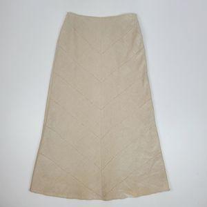 E col o gie oatmeal linen maxi skirt